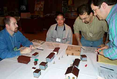 Fast and furious miniatures action at OwlCon 2002